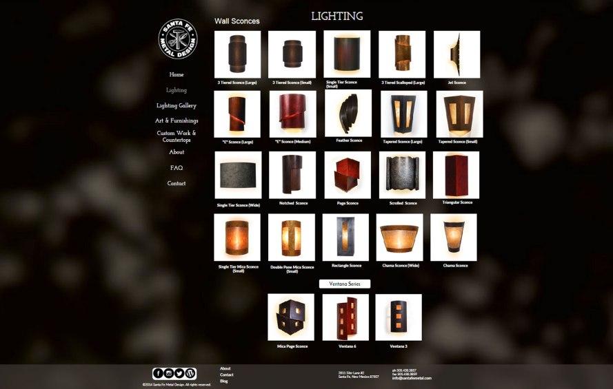 Santa Fe Metal Design Lighting Page